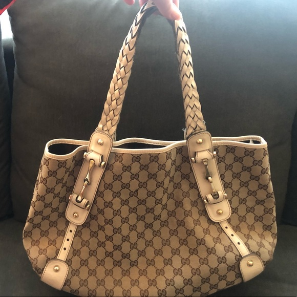 f529119c153c Gucci Bags | Pelham Gg Medium Tote Brownoff White Canvas | Poshmark